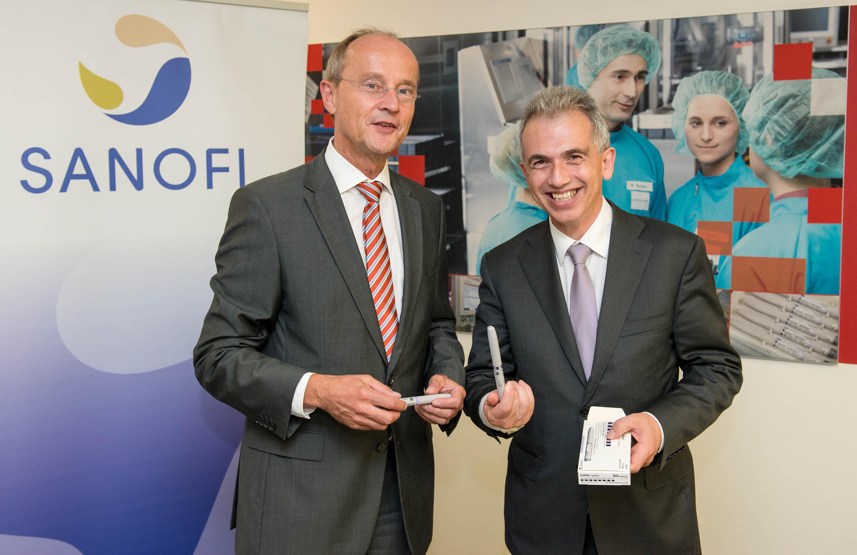 Frankfurter OB Feldmann besucht Sanofi